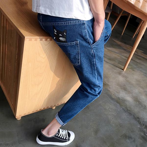9f17b275932 Мъжки дънки 7/8 тип шалвари, стеснени в долната част - Badu.bg - Светът в  ръцете ти
