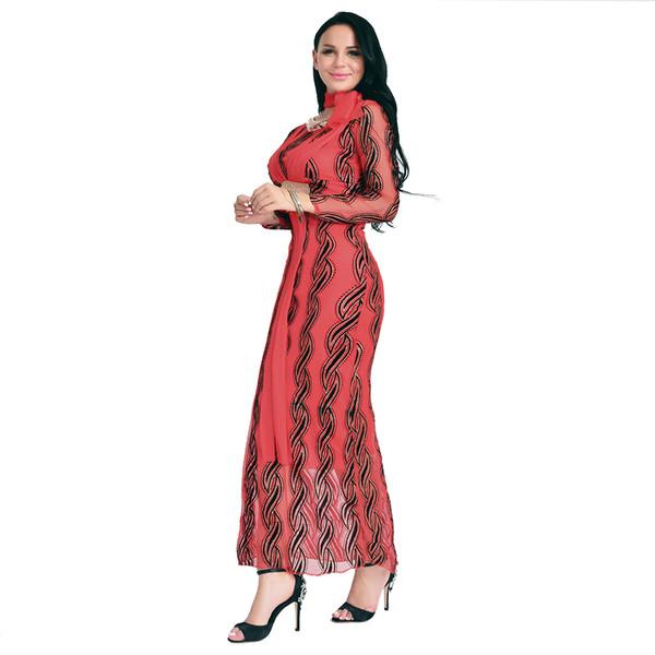 b9c87c6cc87 Елегантна дълга дамска рокля с дълъг ръкав - 5 цвята - Badu.bg - Светът в ръцете  ти