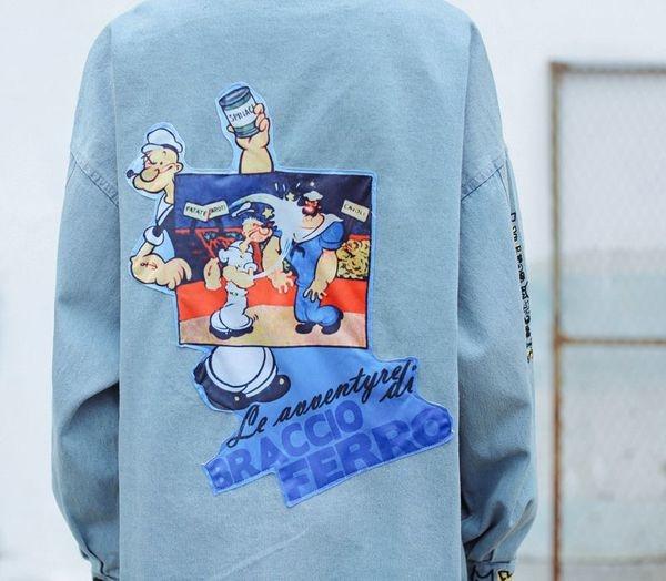 Κομψό τζιν γυναικείο μπουφάν με freestyle με ανοιχτόχρωμες εικόνες -  Badu.gr Ο κόσμος στα χέρια σου bf3e5cce449