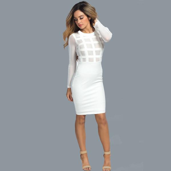 Κομψό και σέξι γυναικείο φόρεμα σε λευκό και μαύρο χρώμα - Badu.gr Ο κόσμος  στα χέρια σου 1e3225b852e