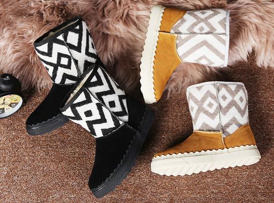 961abf161fc Άνετες γυναικείες μπότες με κάλυμμα από σουέτ και πολύ ζεστό εσωτερικό  ύφασμα