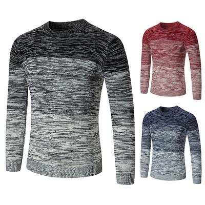 Топъл плетен мъжки пуловер в три цвята