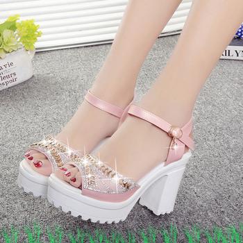 Дамски елегантни сандали с висок ток