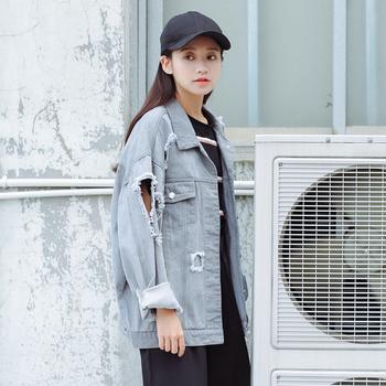 Много стилно дамско широко дънково яке