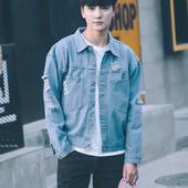 Страхотно стилно мъжко дънково яке с джобове