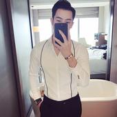 Мъжка елегантна риза с имитация на тиранти