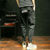 Много модерни мъжки ежедневни панталони в два цвята