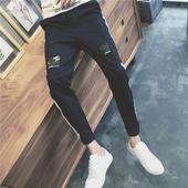 Страхотни мъжки панталони с кръпка и камофлажен мотив