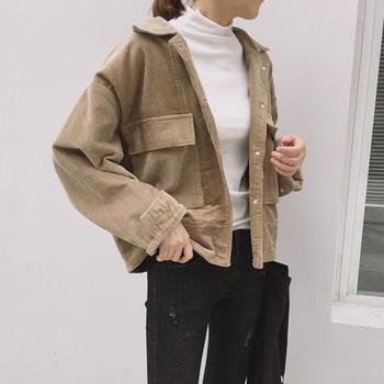 Οι γυναίκες εκλεκτής ποιότητας κοτλέ σακάκι - 3 χρώματα