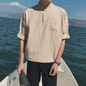 Страхотна мъжка спортно-елегантна памучна дълга риза