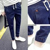 Мъжки спортно-елегантни ластични панталони в три цвята