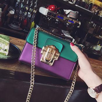 Дамска малка чантичка с дълга дръжка за през рамо тип куфарче