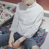 Страхотна мъжка бяла спортно-елегантна риза с къса яка