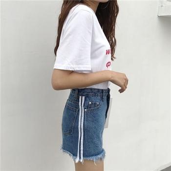Много интересни дамски къси дънкови панталони с висока талия и ресни
