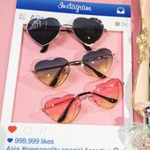 Дамски очила във формата на сърце в три различни цвята