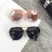 Модерни дамски очила в розов и черен цвят