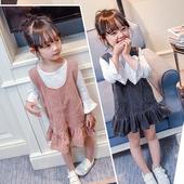 Пролетно-есенна рокля за момичета от рипсено кадифе