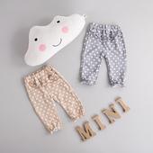 Бебешки ластичен панталон на точки