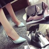 Страхотни кожени обувки с висок ток в три различни цвята