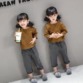 Детски комплект от 2 части за момичета - широка блуза и дълъг панталон
