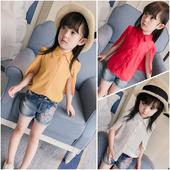 Симпатична шифонена риза с цепнати ръкави в няколко цвята за момичета