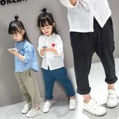 Детски панталони тип шалвари с големи джобове за момичета в няколко цвята