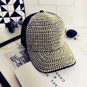 Модерна лятна дамска шапка с козирка с капси