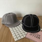 Мъжка ретро шапка с плоска козирка в сив и черен вариант