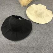 Интересен модел плажна шапка с отворена задна част