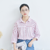 Права дамска раирана риза