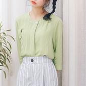 Спортно-елегантна дамска риза с 3/4 ръкав в четири различни цвята