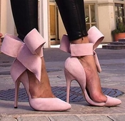 Дамски велурени елегантни ХИТ обувки с висок ток с панделка: Розови Червени Чеерни Зелени Сини