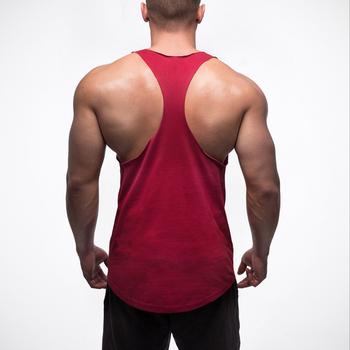 Мъжки потници с дълбоко изрязано деколте и изрязан гръб в черен и червен цвят