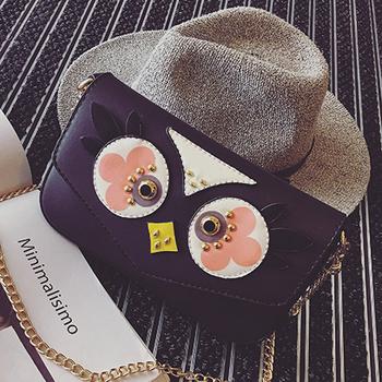 Сладка мини чанта с изображение на бухал в няколко разцветки