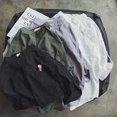 Свободна мъжка риза с О-образна чка с дълги ръкави, в бял, черен, зелен и сив цвят