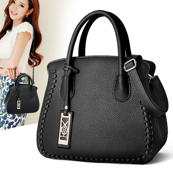 Дамска стилна чанта с два вида дръжки и в разнообразие от цветове