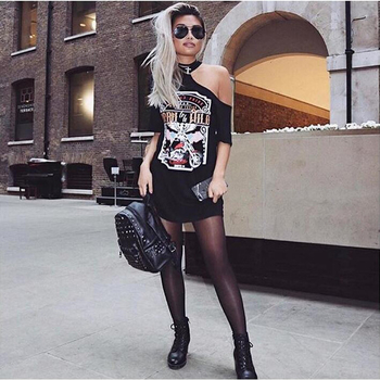 Много стилна и екстравагантна дамска дълга блуза тип туника с интересна апликация
