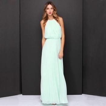 d7c62c53e81 Много стилна дамска дълга вечерна рокля - 5 цвята - Badu.bg - Светът ...