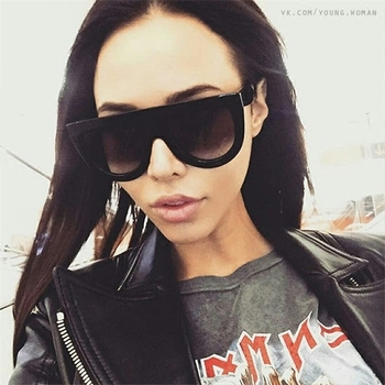 Стилни дамски слънчеви очила тип маска