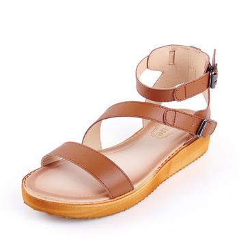 d75bc8fcb5b Стилни кожени дамски сандали с каишки в черен, бял и кафяв цвят ...