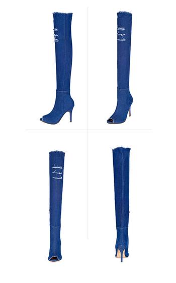 Εξαιρετικές γυναικείες μπότες denim - 5 χρώματα