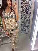 Много стилно дамско плетено парео - 2 цвята