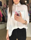 Стилна дамска шифонена риза с джобове