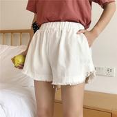 Летни дамски къси панталони в свободен стил, в бял и черен цвят
