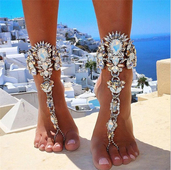 ХИТ! Модерни накити за глезена, подходящи за плаж - различни разцветки