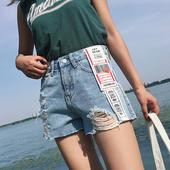 Стилни и модерни дамски къси панталони с висока талия и накъсани