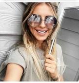 Много интересни дамски слънчеви очила с кръгла форма на стъклата - 13 модела