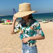 Лятна дамска риза с 3/4 ръкав, цветна и дълга