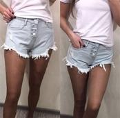 Стилни дамски къси дънки панталони - 6 цвята
