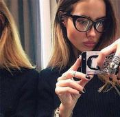 Страхотни дамски очила с прозрачни стъкла и интересна форма на рамката